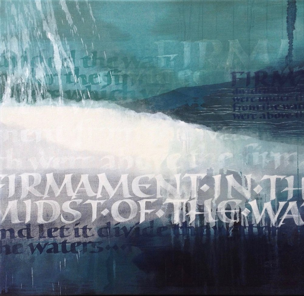 Let there be a firmanent oil on canvas 70 x 75 cm .jpg