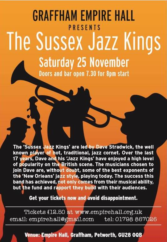 The Sussex Jazz Kings, an evening of New Orleans style jazz