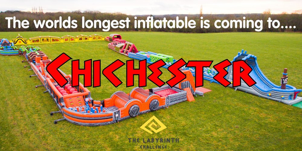 The Labyrinth Challenge (The Worlds Longest Inflatable) - Chichester