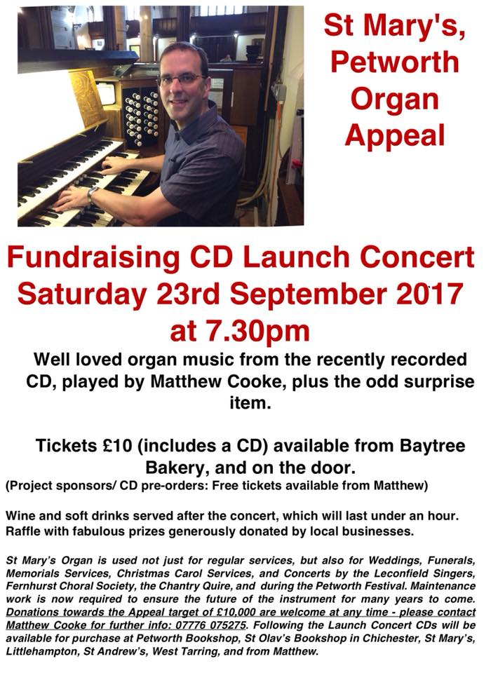 St Mary's Petworth Organ Appeal Concert