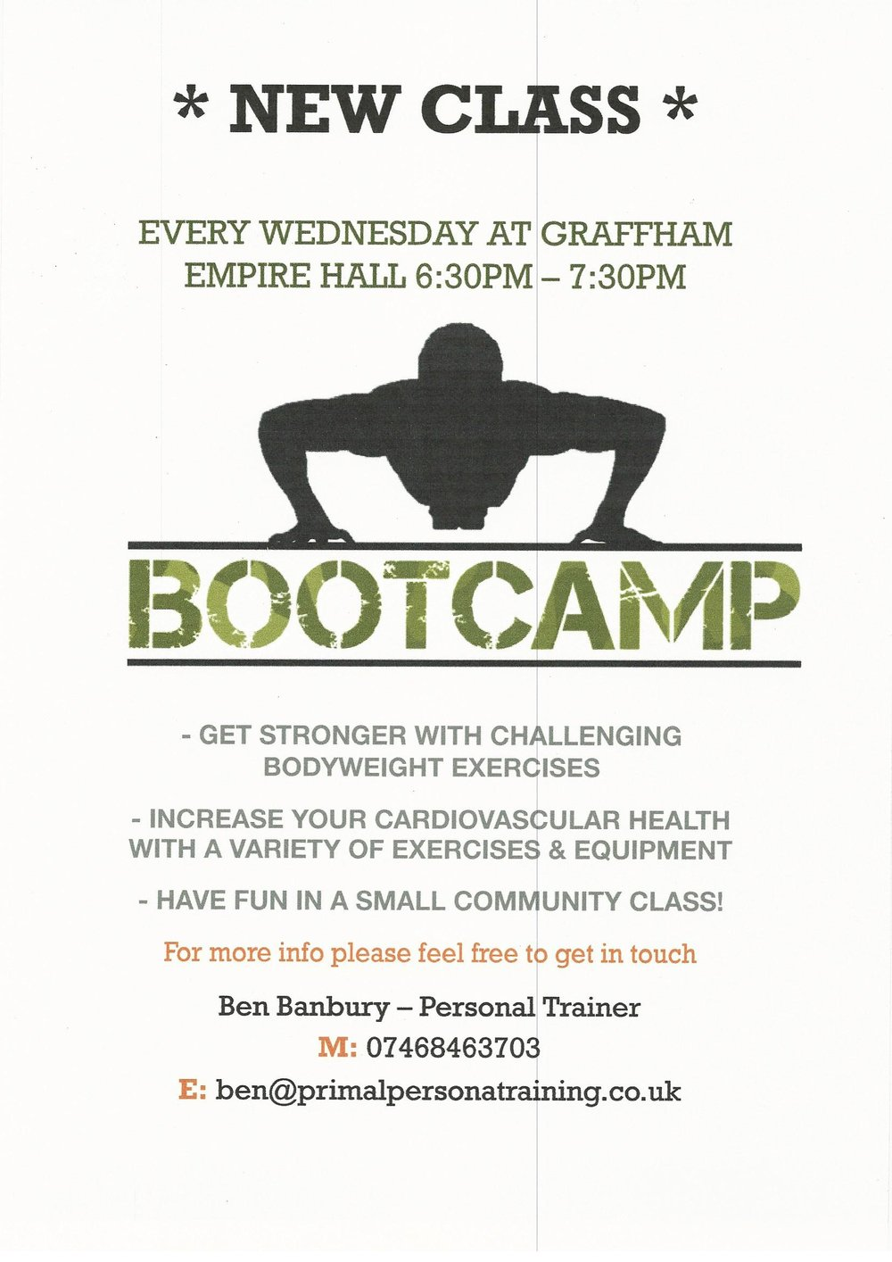 Bootcamp in Graffham
