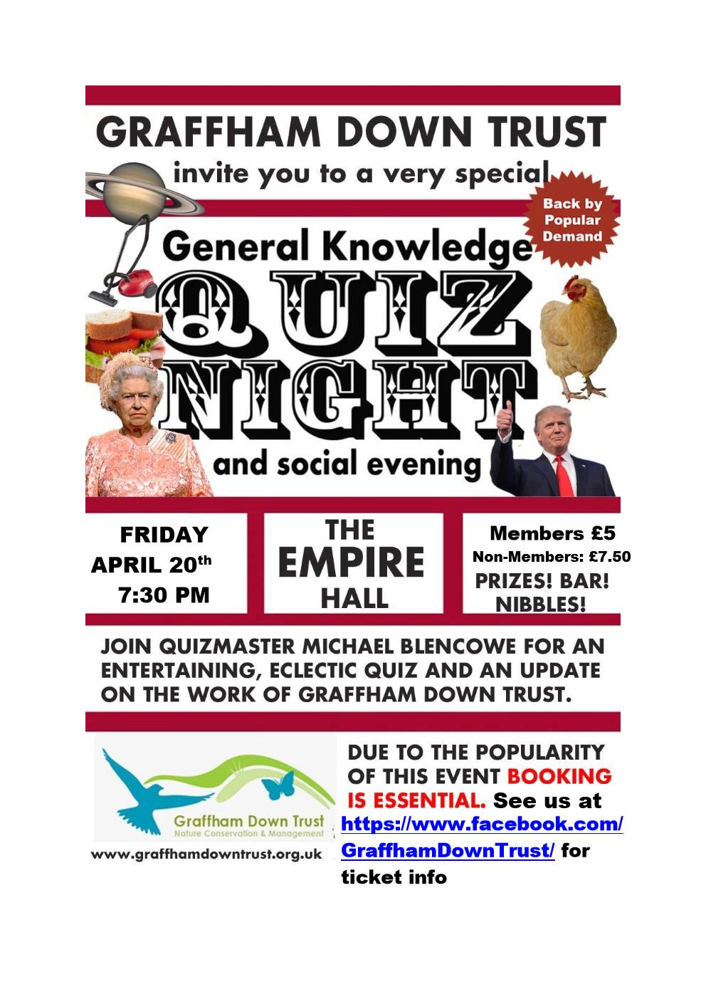 Graffham Down Trust Quiz Night with Michael Blencowe