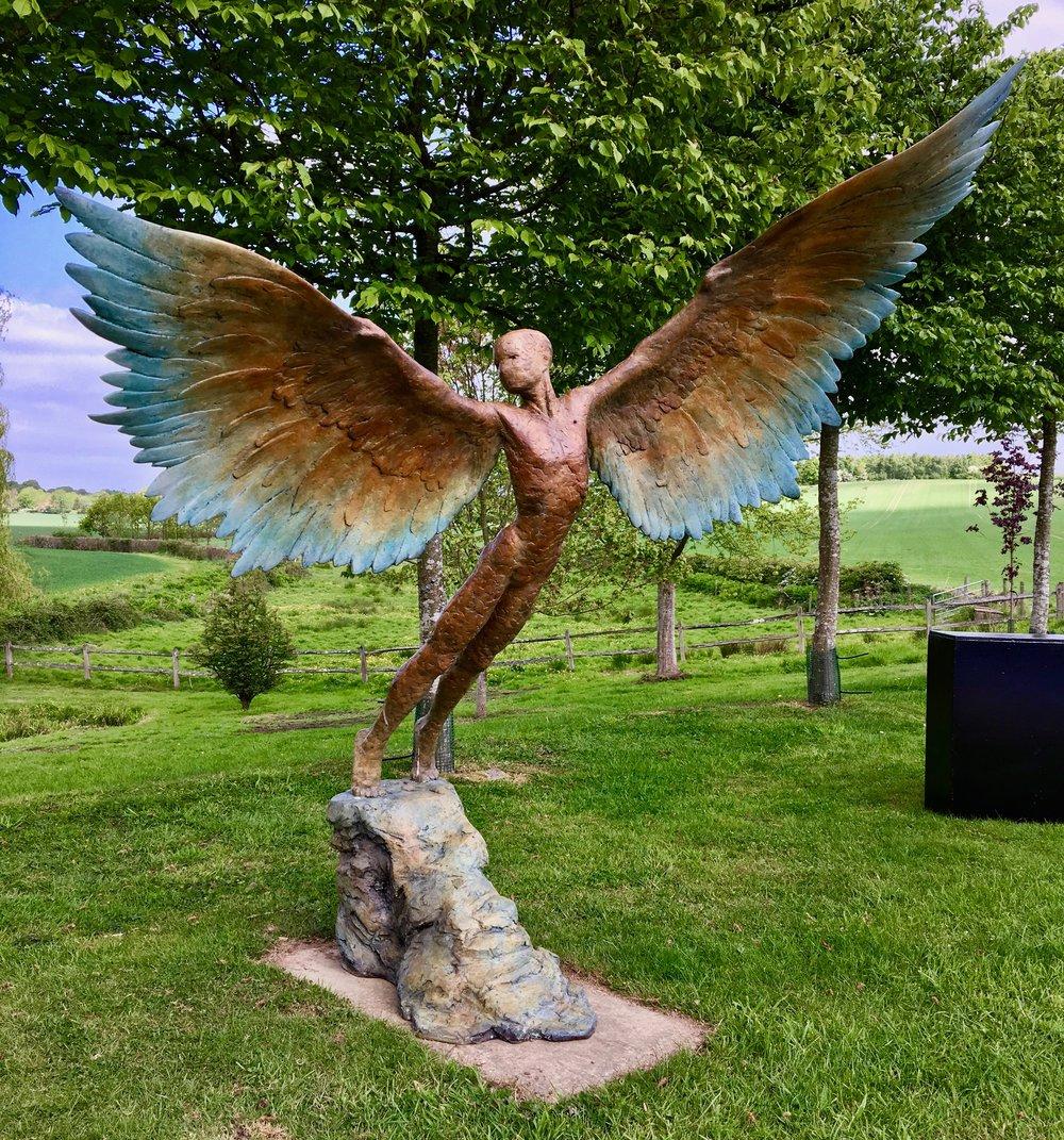 Miranda Michels, Icarus, bronze, H .jpg