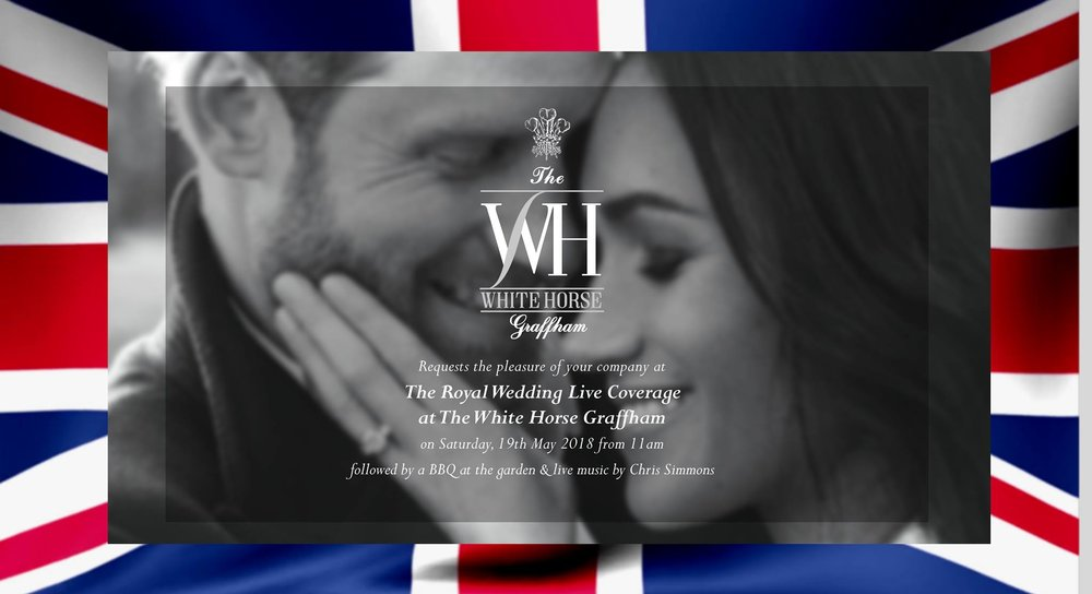 The Royal Wedding Garden Party at The White Horse Graffham