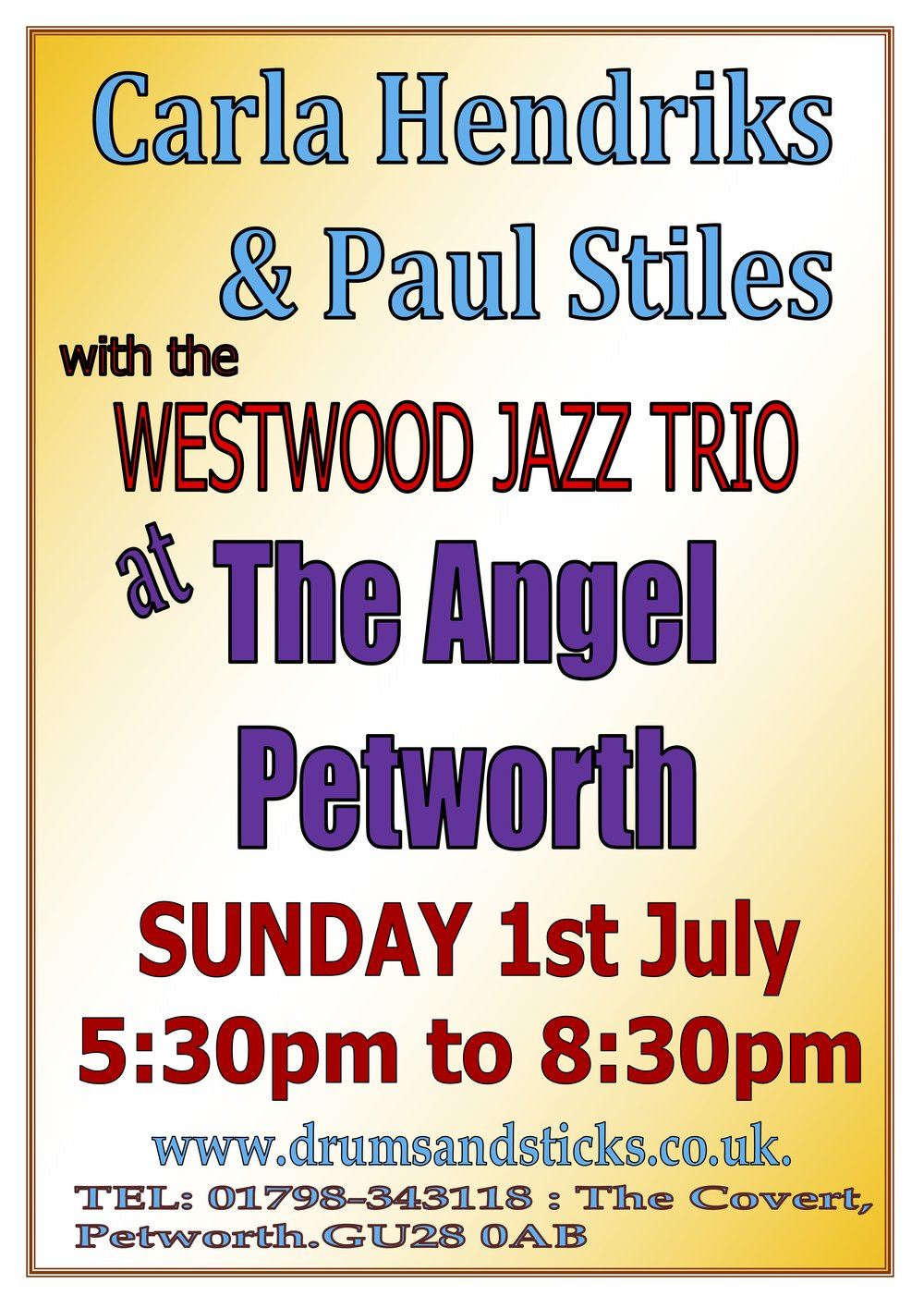 Carla Hendriks & Paul Stiles with the Westwood Jazz Trio