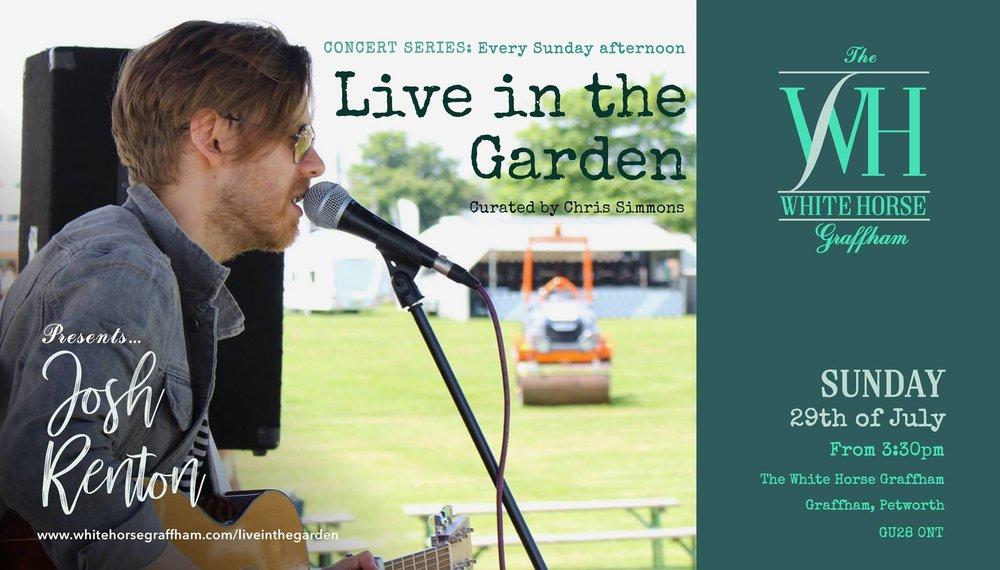 Live in the Garden' presents Josh Renton