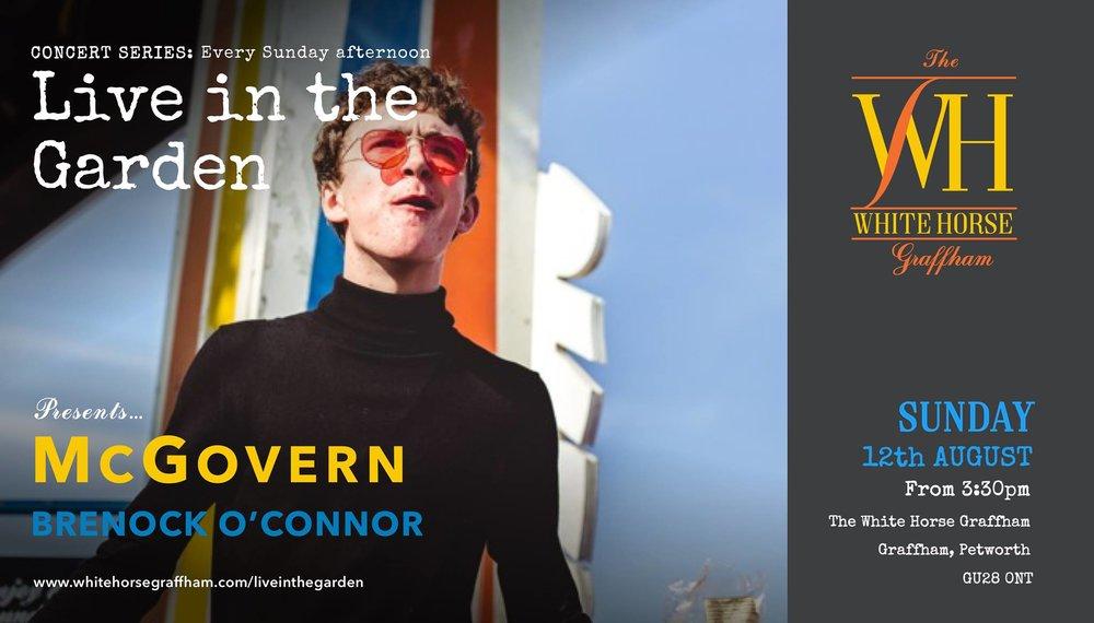 Live in the Garden' presents McGovern (Brenock O'Connor)