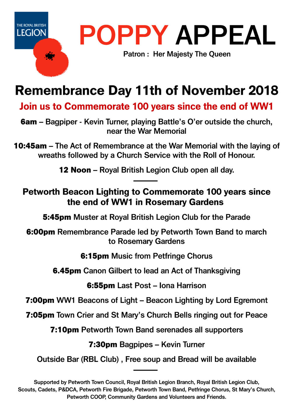 Remembrance Sunday in Petworth