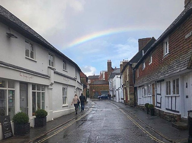 Did you see the rainbow over #PetworthUK today? 📸 Photo: @laura_lammy