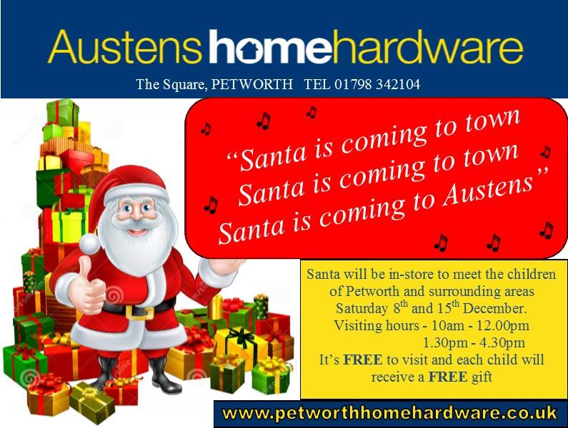 Visit Father Christmas at our Petworth Store