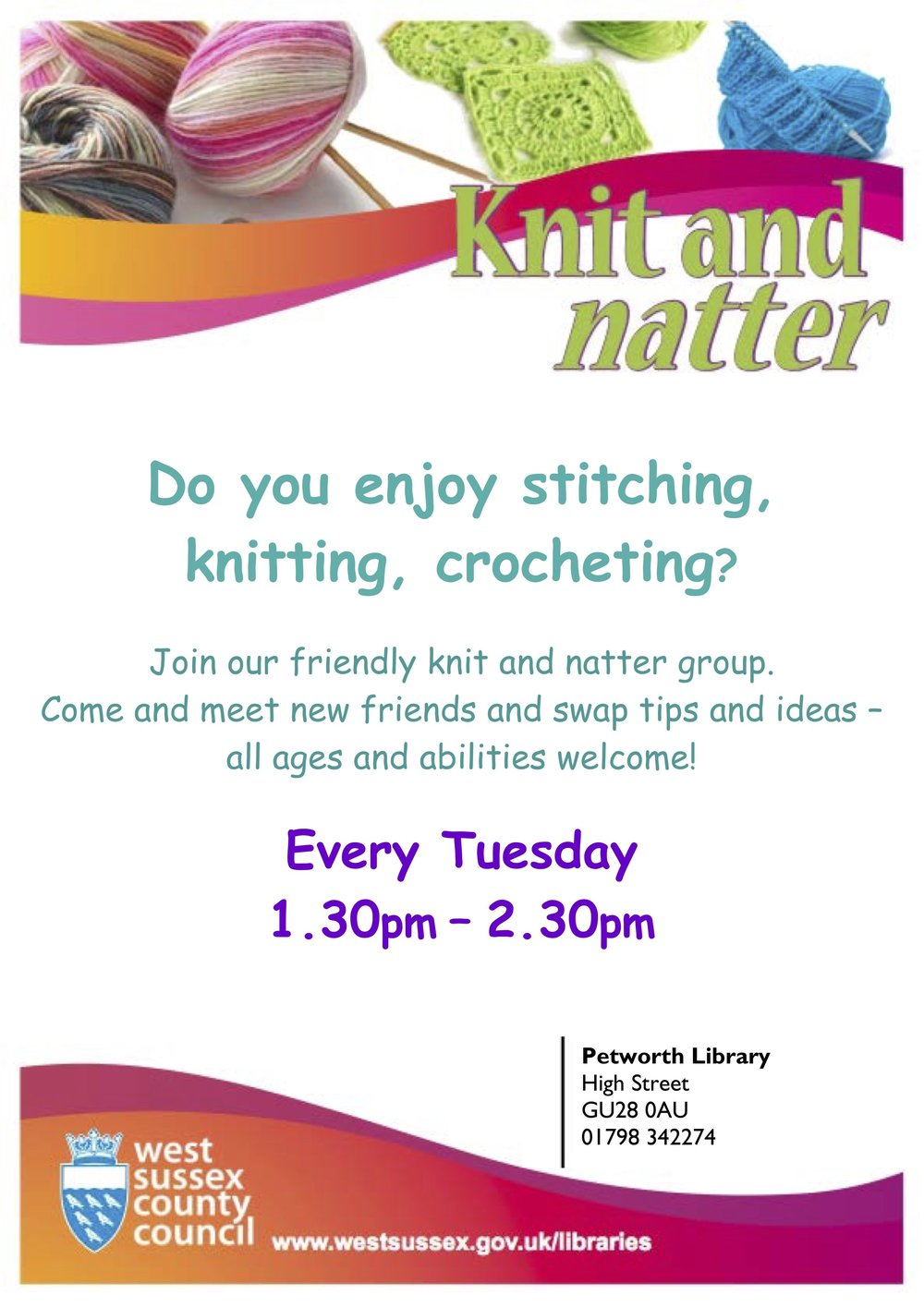 Knit and Natter at Petworth Library