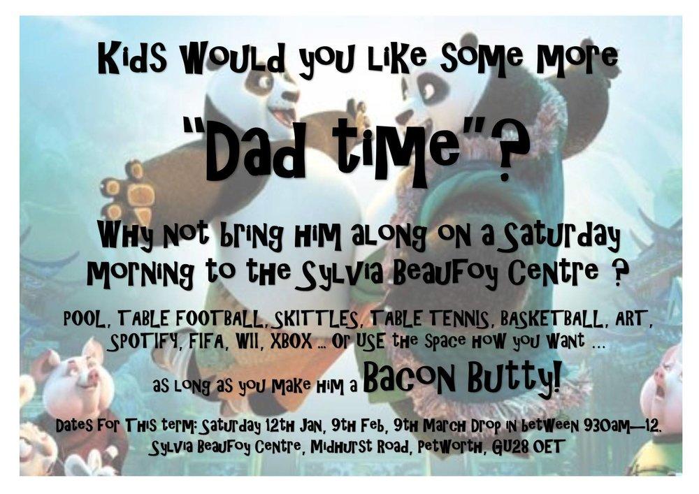 'DAD TIME' AT SYLVIA BEAUFOY CENTRE