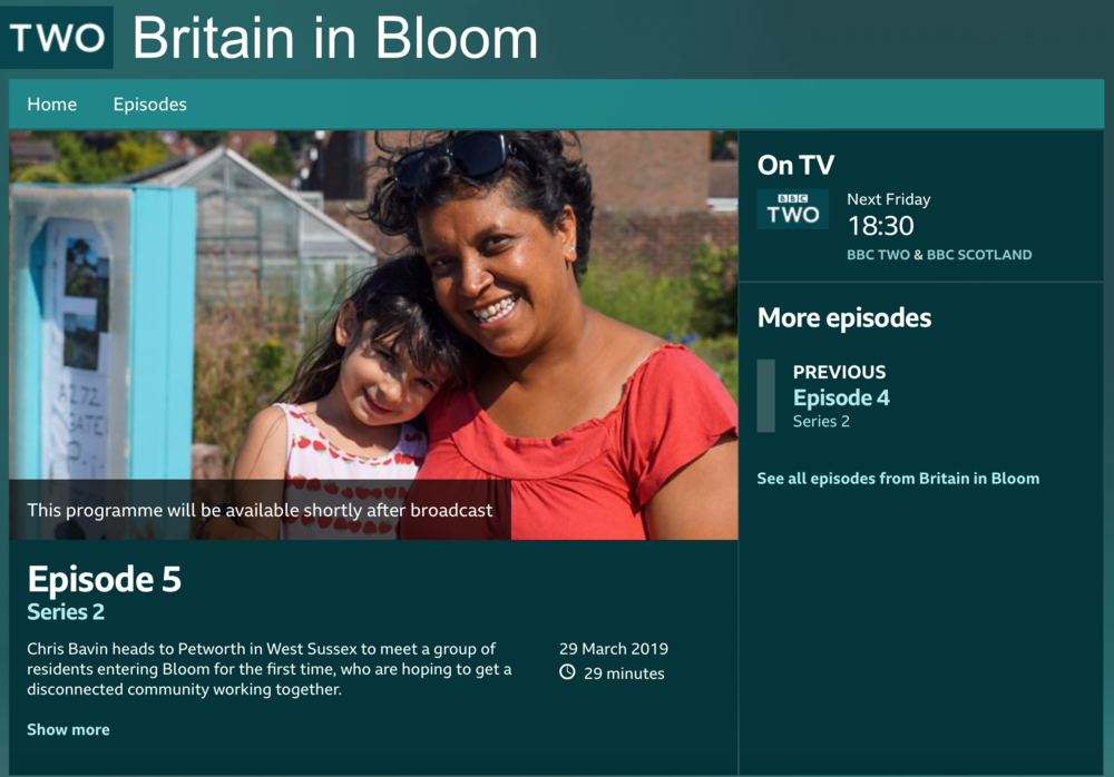 Petworth 'In Bloom' Live Showing