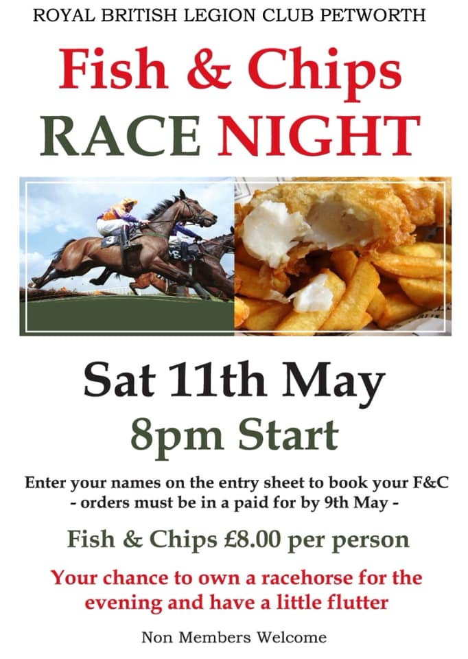 Race Night at RBL — Discover Petworth - West Sussex