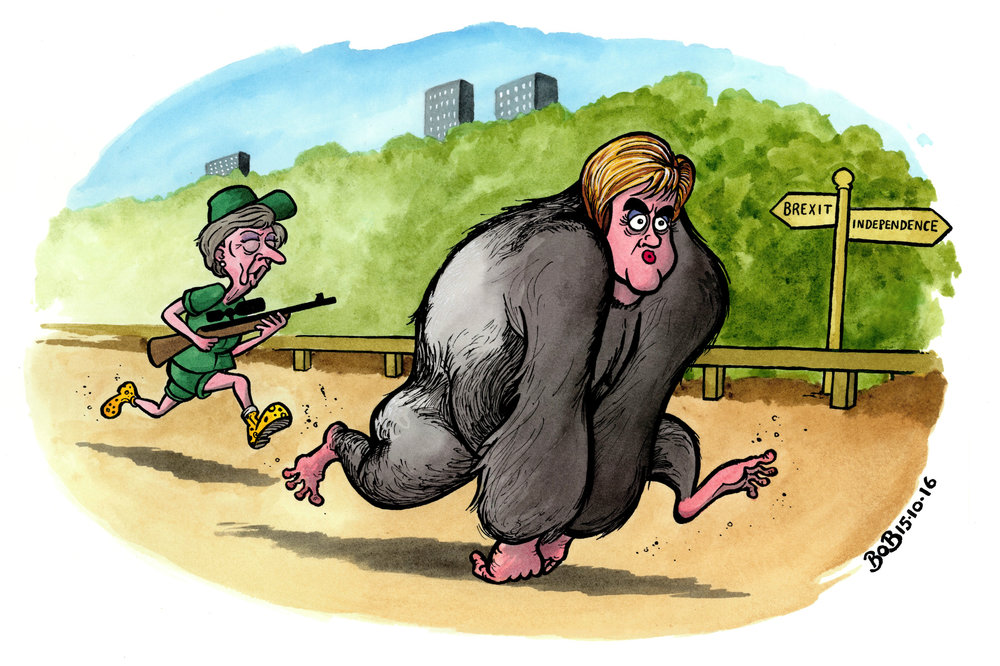 A gorilla escapes from its enclosure at London Zoo and is tranquillised by a keeper. Nicola Sturgeon makes clear her determination to hold a second referendum on Scottish independence.