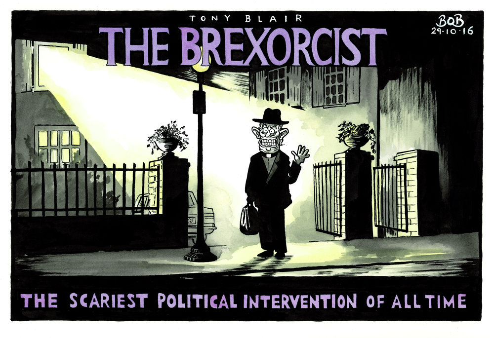 Tony Blair called for a second referendum to reverse the 'catastrophic' effects of Brexit. The Exorcist is one of my favourite films - it felt slightly wrong to tarnish its wonderful poster image in this way. At the same time, it seemed very apt.