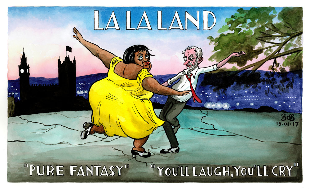 Jeremy Corbyn ends his disastrous 'relaunch' week with a speech to the Fabian society while Labour loses its grip on the North and critics claim he has lost control of the party. The film, 'La La Land' opens in cinemas amid much hype and glittering reviews.