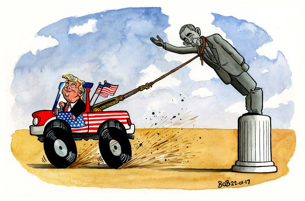 President Trump immediately and aggressively begins to demolish Barack Obama's legacy.