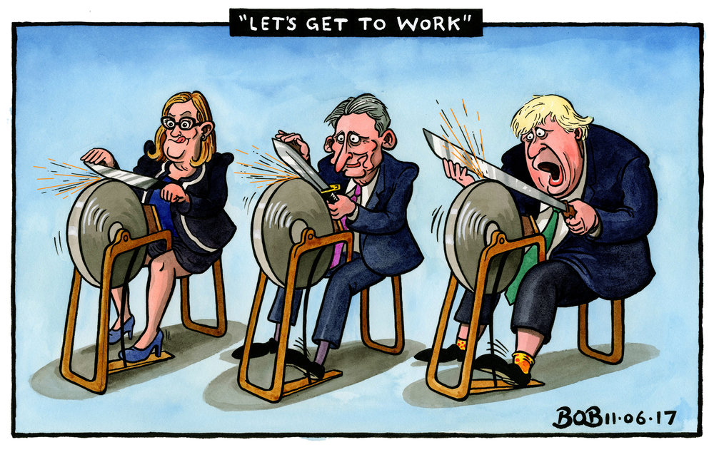 "Theresa May returned to Downing Street after her disastrous election result and delivered a defiant (and somewhat delusional) speech ending with the words ""Let's get to work"". There were already calls for her to resign and rumours of potential leadership challengers ready to strike. These included Amber Rudd, Philip Hammond and Boris Johnson."