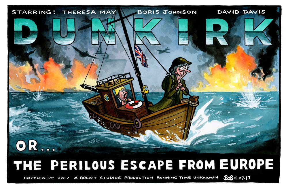 As the new film 'Dunkirk' opens in the west end, Brexit negotiations recommence with prominent remainers making continued attempts to prevent it from ever happening.