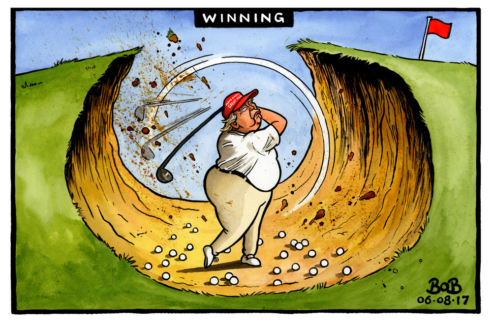 Donald Trump takes an extended golfing holiday despite his Presidential administration failing on almost every level.