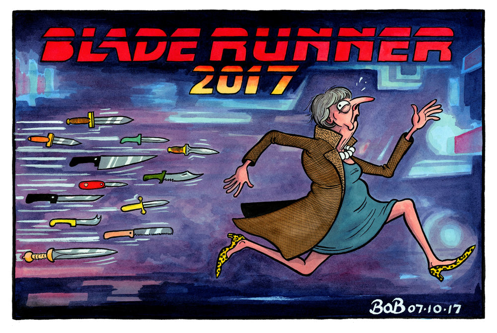 After a disastrous party conference speech, Theresa May faces renewed challenges to her leadership. Blade Runner 2049 is released in cinemas.