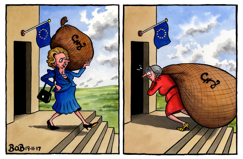 The EU threatens to withhold the UK's rebate, negotiated by Margaret Thatcher in 1985. Meanwhile, Theresa May's cabinet agrees to increase the proposed 'EU divorce settlement'.
