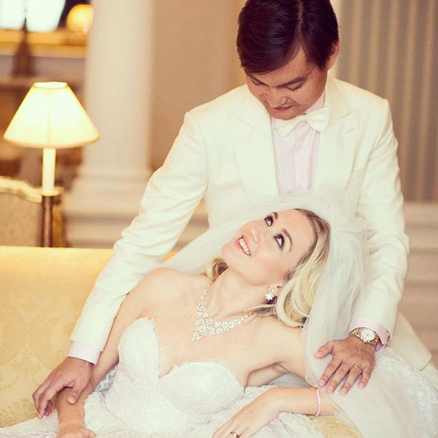 Love is in the eyes and the smiles #weddingphotography #asiasaidyes #vosego #mixedcouple #weddingday #weddinghair #weddingdress #weddingsuit #whitesuit #love #warsaw #warszawa #singapore #asianboy #polishgirl