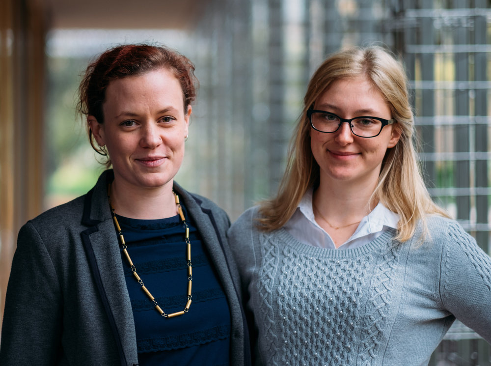 Co-founders Eleanor (left) and Sarah (right)
