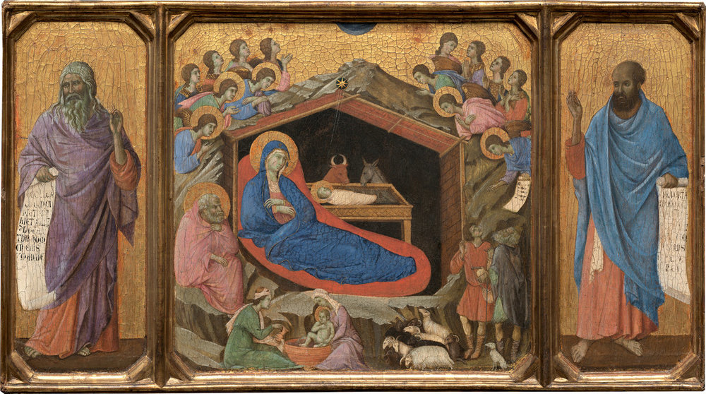 """The Prophets With Isaiah and Ezekiel"" by Duccio di Buoninsegna, 1308-1311. I still don't know why I should care about this painting."