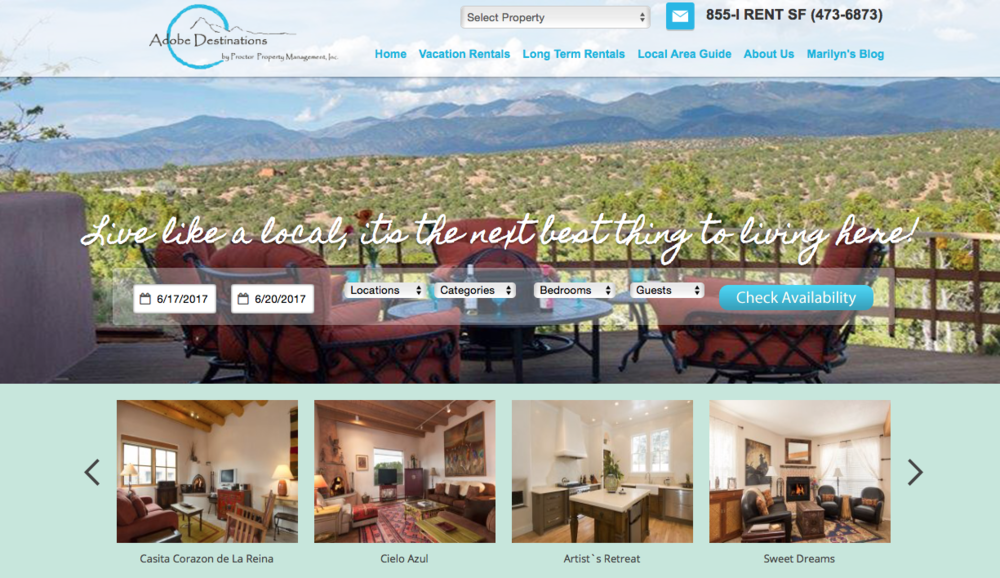 Adobe Destinations | Vacation Rentals | Santa Fe, NM