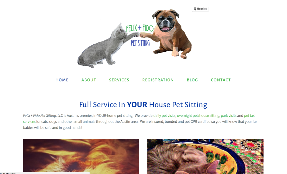 Felix & Fido Logo & Website