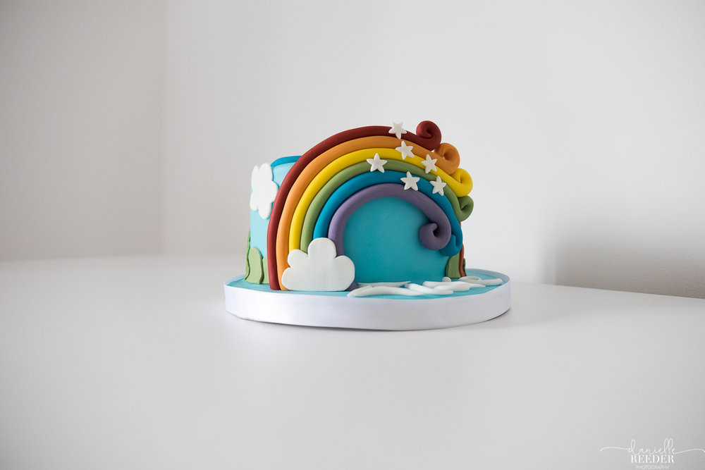 My Little Pony 'Rainbow Dash' cake. Documentary Photography, Somerset. www.daniellereederphotography.com