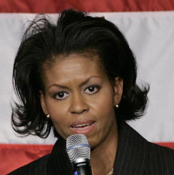 The Michelle Obama I met in 2008 - the photo we actually took together has since died along with the ancient hard drive it was on.
