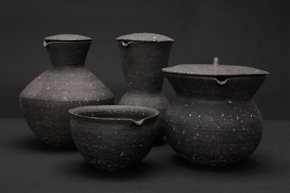 Water vessels series Stoneware and ashglaze Tokoname, Japan 2014