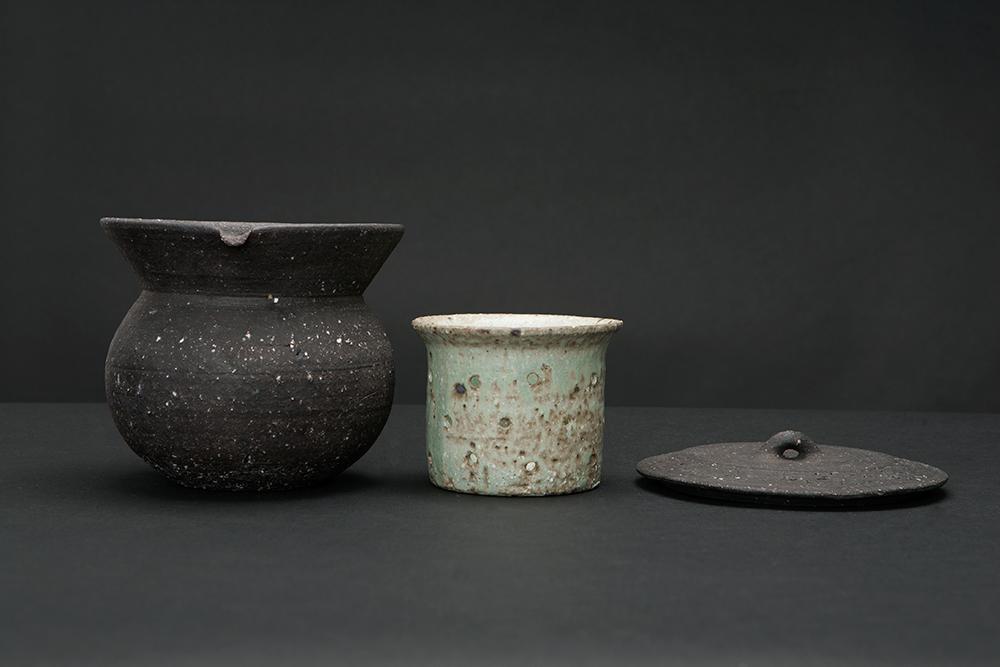 Water jar and filter Stoneware and ashglaze Tokoname, Japan 2014