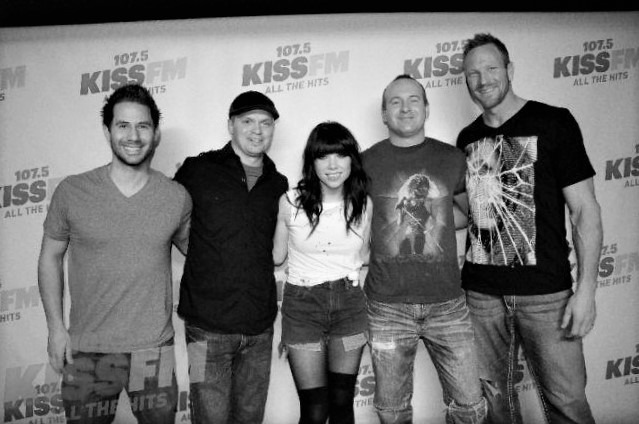 HANGING OUT AFTER OUR ACOUSTIC SHOW WITH  CARLY RAE JEPSEN