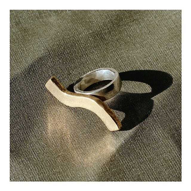 l a s t. o n e. l e f t 🌊 the wave ring in solid brass & silver ~ tap to shop
