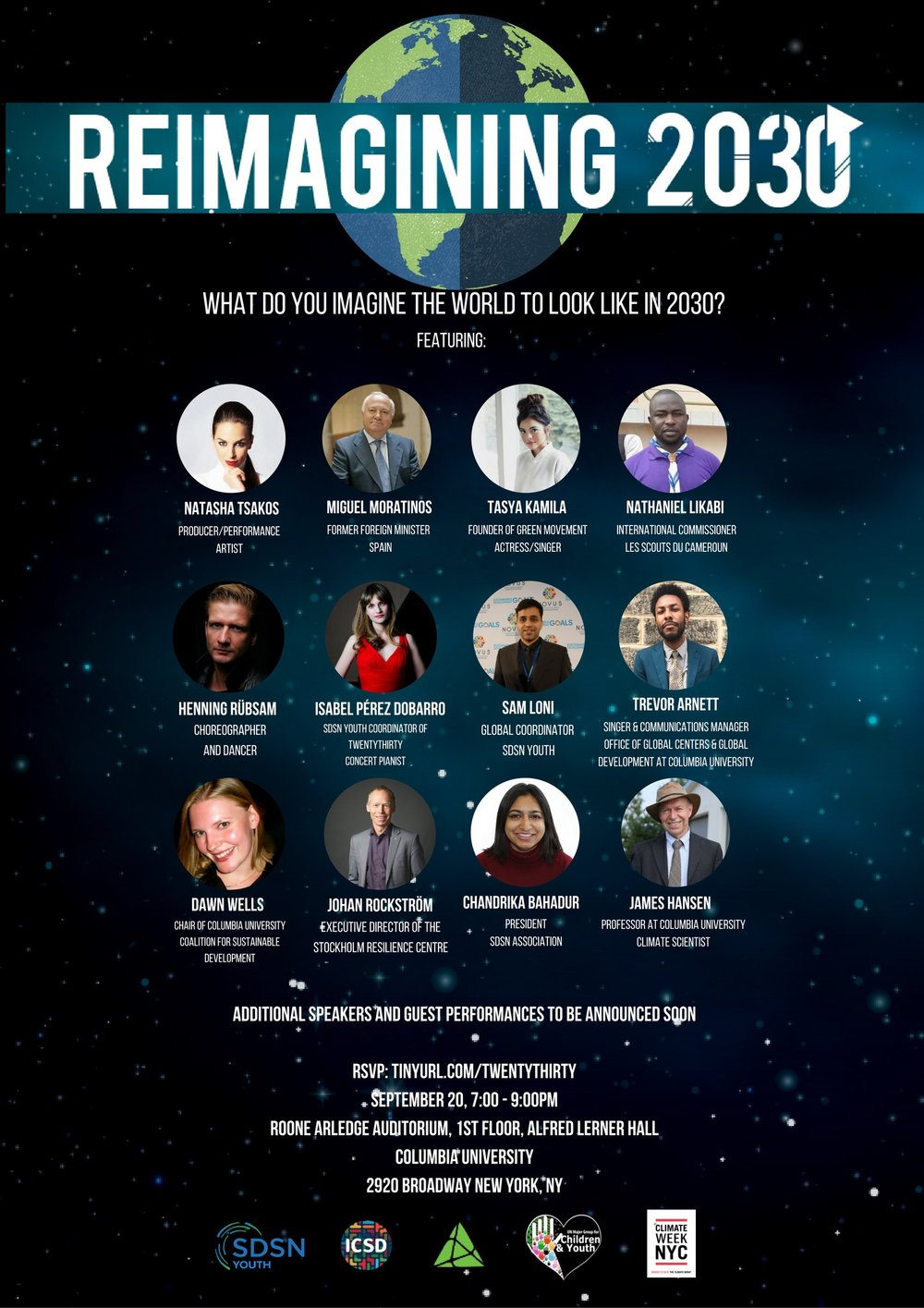 Reimagining 2030 event at Columbia University (September 2016)
