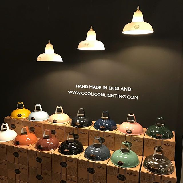 #OriginalCoolicon at #Light+Build in Frankfurt #enamelcolours and fine #bonechina