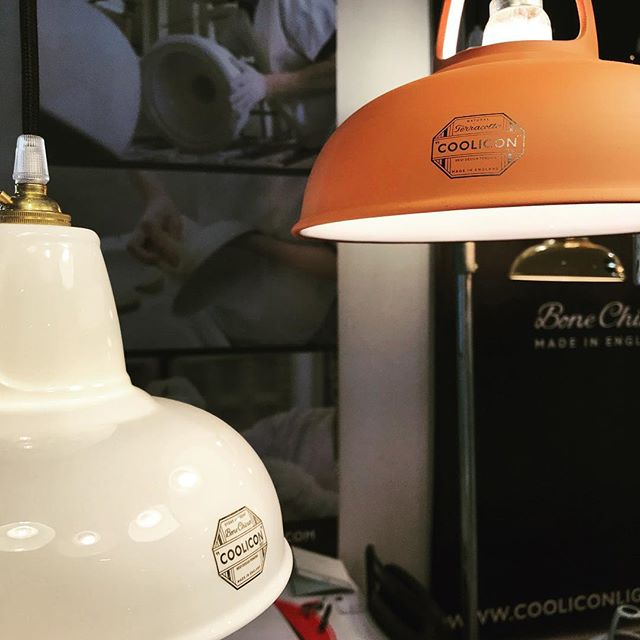 The lights that lit the traditional pottery's of England are now hand made in the #pottery's #terracotta #bonechina #coolicon #silhouette #maisonobjet2019