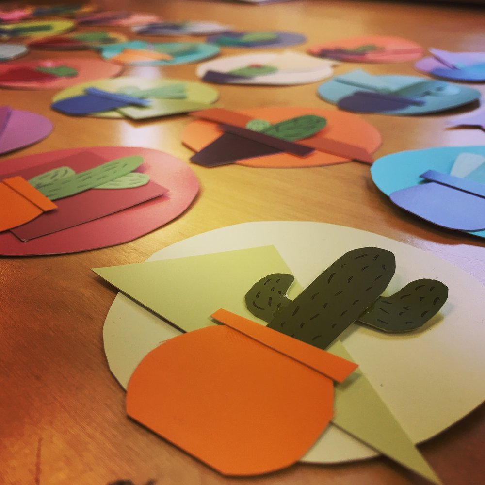 Cactus Door Decs - Name Tags for MECA Residential Housing.
