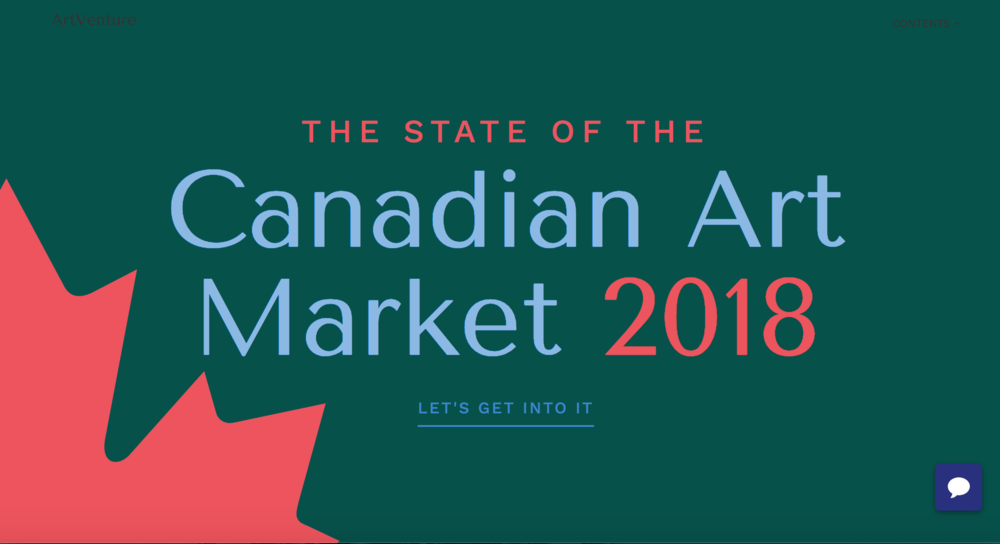 Canadian Art Market Report 2018 - Presented by ArtVenture in conjunction with Art Toronto.