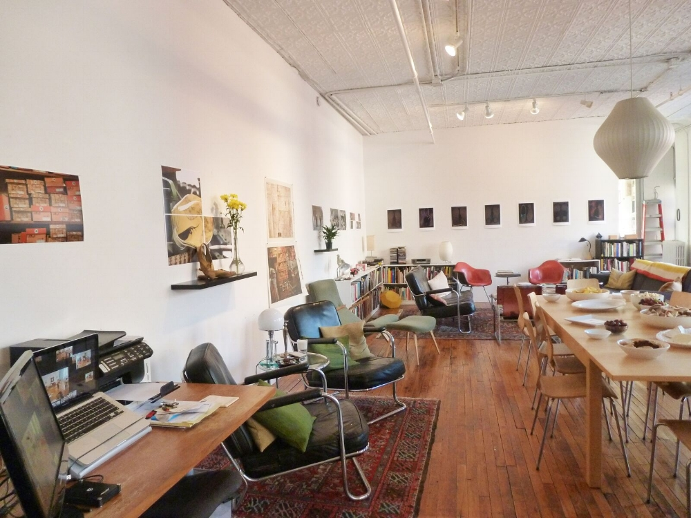"The  ""Loft""  at 162 W. 21st - The current home of Critical Practices Inc. and ongoing programs and artist viewings and events."