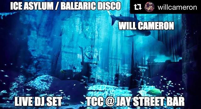 See you tonight! @willcameron presents a live dj set 8pm to close! #iceasylum #balearicdisco #dj #livebrooklynmusic