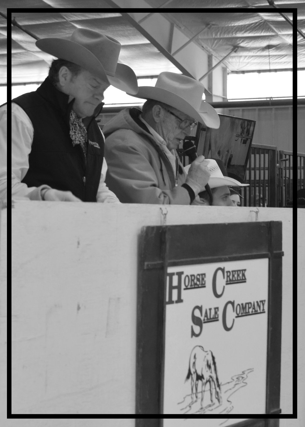 John Hayes Owner Horse Creek Sale Company & Joel White Auctioneer for Horse Creek Sale Company