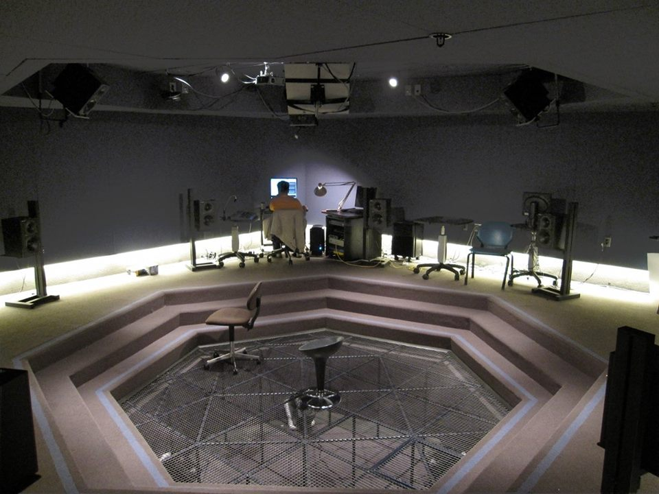 CCRMA'S Listening Room with 360-degree speaker array