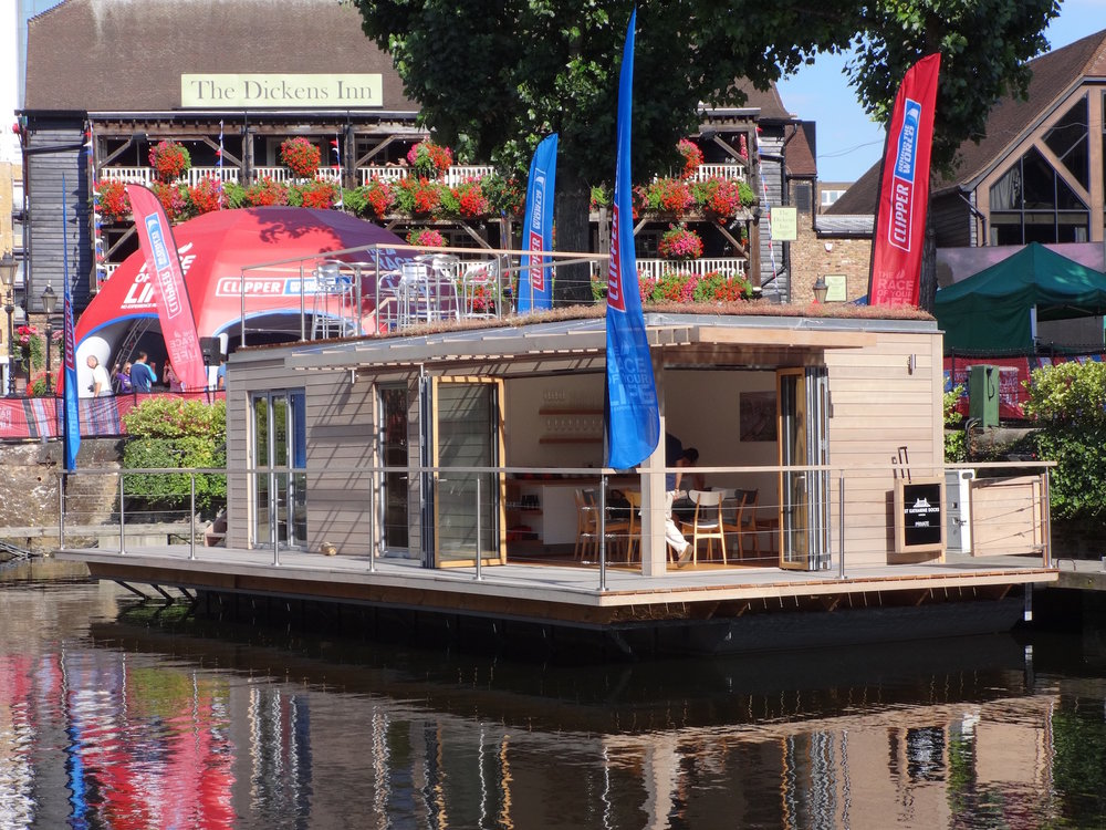 Floating office at Dickens Inn