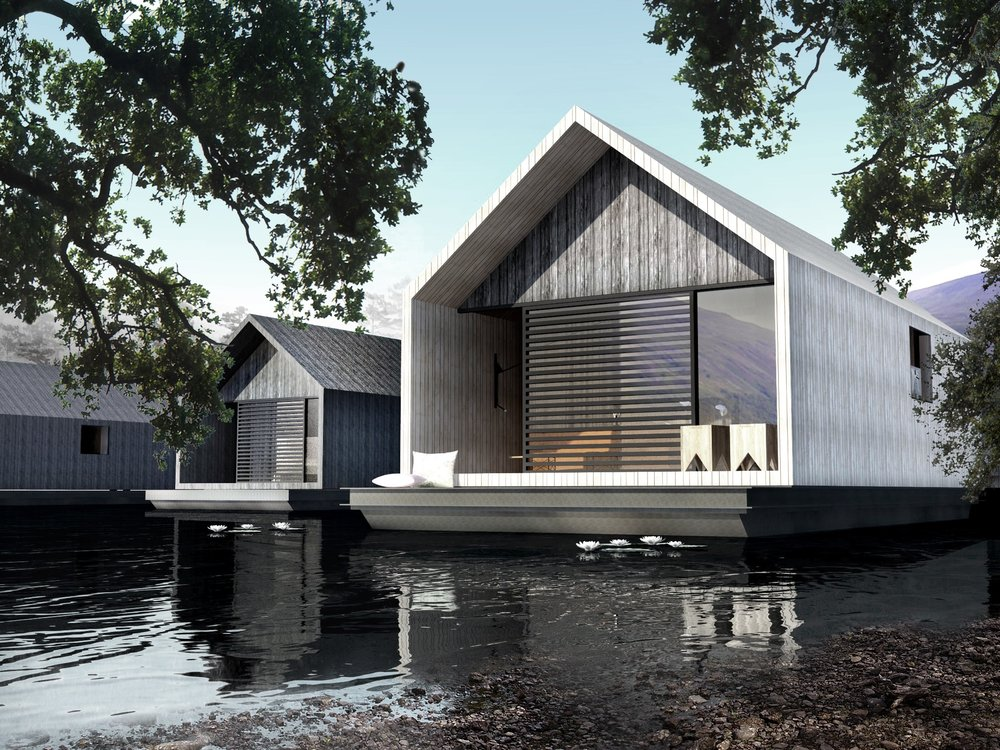 Eco floating homes - Nature integrated houses perfect harmony ...