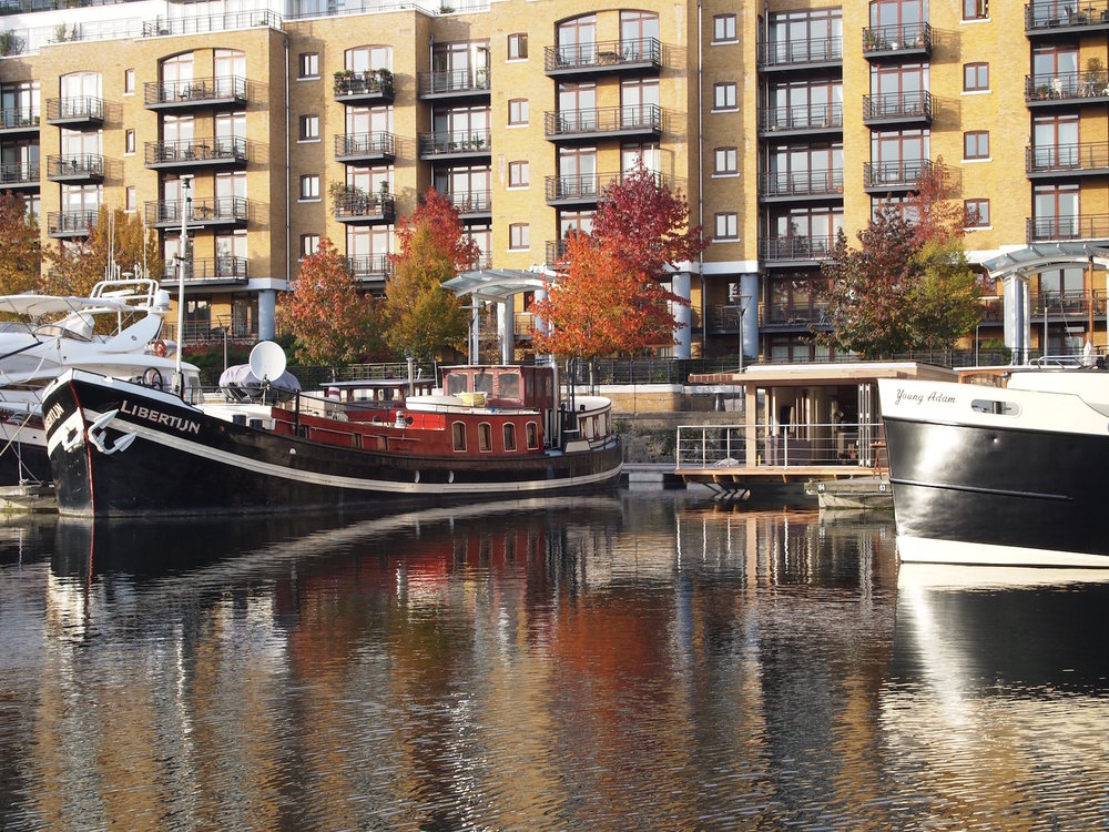 Autumn Eco floating home at St Katharine Docks